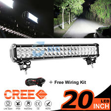 "20inch 294W CREE Led Light Bar Flood Spot Work Driving Offroad Lamp 4WD 22"" 24"""