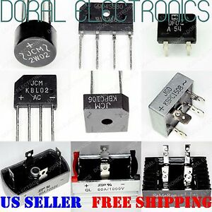 Bridge Rectifier Diode 1A - 120A & 100V - 1200V Amp A Rectifiers Diodes V Volts