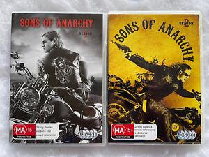 Sons Of Anarchy Seasons 1 & 2 (DVD, 2 x 4-Disc Set, Region 4) -  VGC