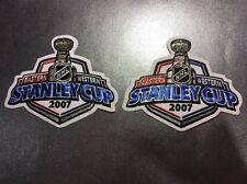 Lot Of 2 2007 Stanley Cup Finals Patch Anaheim Ducks Vs Ottawa Senators NHL