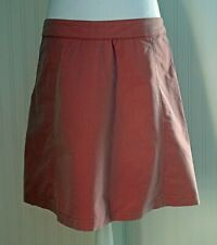 Ibex Organic cotton Rec.Poly Soft orange Knee length A line Side zip Skirt sz 12
