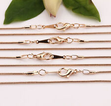 5/10pcs 430x1MM Gold Silver White K Snake Chain Lobster Clasp Necklace Finding