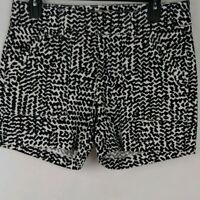 Banana Republic Womens Shorts Black White Size 4