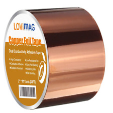 Copper Foil Tape 2inch X 33 Ft With Conductive Adhesive Guitar And Emi Shielding