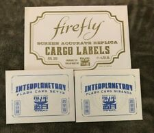 Serenity/Firefly Replica Cargo Labels and Interplanetary Flash Cards
