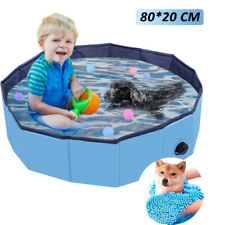 Foldable Pet Pool, Dog Paddling Pool with Quick Dry Pet Towel Pet Bathing Tub