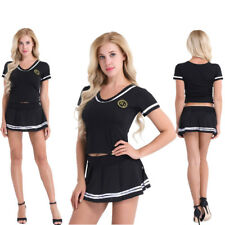 Women Sexy Lingerie Cheerleader Uniform School Girl Outfit Fancy Dress Costume