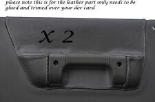 WHITE STITCH 2X FRONT DOOR CARD GREY COVERS FITS LAND ROVER DISCOVERY 2 300 V8
