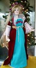 "Paradise Galleries Rapunzel 16"" Porcelain Doll w Stand by Patricia Rose"