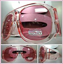 OVERSIZED EXAGGERATED VINTAGE RETRO Style SUN GLASSES Super Thick XL Pink Frame