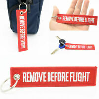 Red Key Chain Aviation Atv Bag Motorcycle Pilot Crew Tag Remove Before Flight x1