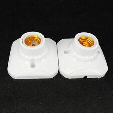 Safer With CERAMIC LINER White Screw E27 Light Holder Lamp Bases Bulb Socket