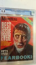 FAMOUS MONSTERS OF FILMLAND  #nn 1971 YEARBOOK 1 CGC 5.5 WHITE PAGES
