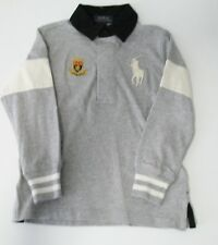 Polo Ralph Lauren Boys Big Pony Cotton Rugby Shirt Gray Heather Sz 2/2T - Nwt