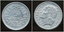 5 francs  LAVRILLIER  ALU 1946 B     (  TTB ++ )