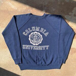 Vintage 70s Sweatshirt Columbia University Ivy League USA Raglan Crewneck sz S/M