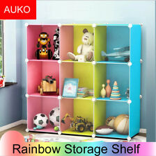 Rainbow Cube Storage Closet Organizer Cubby Bins Cabinets Shelves Toy Kid