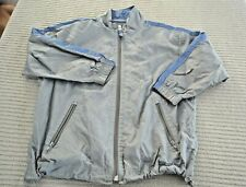 Boys size 5 - 6 Gap nylon mesh lined casual zip front jacket gray and blue