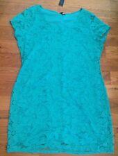NEW Womens TIANA B. Green Lace Overlay Short Sleeve Dress Size Medium M $98