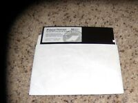 "Printer Drivers for the HP LaserJet 4L Printer on 5.25"" floppy disk"
