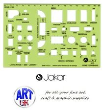 Jakar Draughtsmans' House Furnishings Master Template Stenci rulerl 1:100 - 4678