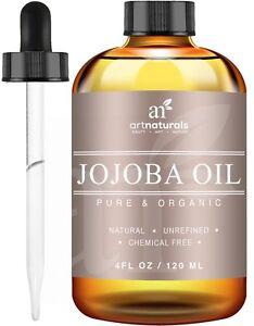 A ArtNaturals Organic Jojoba Oil 100% Pure Virgin Cold Pressed Unrefined