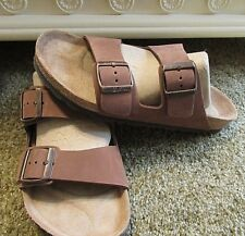 BIRKENSTOCK WOMAN'S BROWN SUEDE SANDALS SIZE 40  MADE IN GERMANY