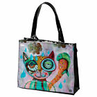 "ALLEN DESIGNS by ENESCO - ""CAT & OWL"" - Shopping Bag - Motiv Katze - D128"