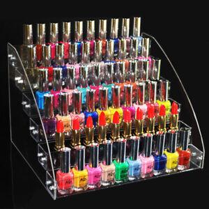 7 Tiers Acrylic Lipstick Nail Polish Display Rack Stand Holder Makeup Organizer
