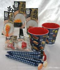 SUSHI Collectibles 5 Magnets ,4 Ball-point pens & 2 Melamine cups Cute and funny