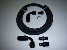 6AN BLACK BRAIDED FUEL LINE FOR EDELBROCK SINGLE FEED FUEL LINE BLACK ADAPTERS