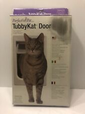 Tubby Kat Door Small Dog Cat Doggie Door Locking Magnetic Closure Outside Access