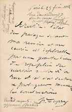 art Henri Louis Dupray lettre autographe signée Frantz Jourdain fuite d'eau !