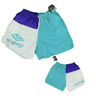 NOS Vintage 90s Umbro Mens XL Color Block Spell Out Nylon Jogging Soccer Shorts