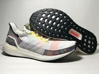 Adidas Men's UltraBOOST 19 Pride Running Sneakers Clear White Multi Size 10 US