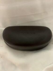 Michael Kors Sunglass ~ Eyeglass Hard XL Clamshell Case Dark Brown Chocolate New