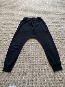 Nununu Kids Heart Light Cotton Summer Pull-on Sweatpants in Black 8-9T