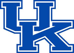 "University of Kentucky Wildcats UK 6"" White or Blue Vinyl Decal Truck Car Window"