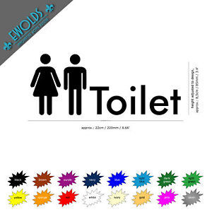WALL / DOOR STICKER toilet man woman bathroom wallart decal vinyl sign WC pub