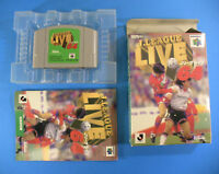J League Live 64 ~ Complete in Box CIB (Nintendo 64 N64, 1997) Japan