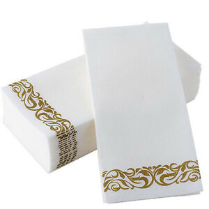 50 PCS Disposable Cocktail Napkins Hand Towels Soft Guest Towels For Wedding