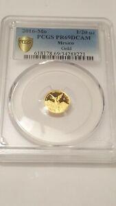 2016 Mo Mexico Gold Libertad Proof 1/20 oz Onza.