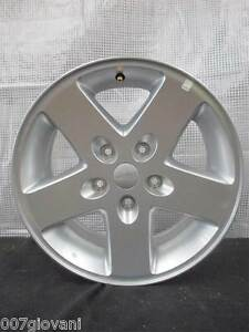 4x 17 inch Jeep Wrangler JK Alloy Wheels GENUINE 5 SPOKE No Tyres GREAT AS SPARE