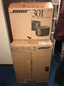 Bose 601 Series IV & Bose 301 Series V In Original Boxes Mint Circa 2002 WOW!!