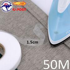 1.5CM Iron-on Hemming Strip Hem Tape Hot Melt Adhesive No Sewing Required 50M OZ