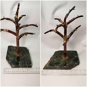 Signed BRUTALIST COPPER TREE SCULPTURE~ Vintage,  MCM