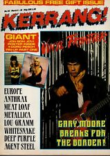 Gary Moore on Kerrang Magazine Cover 1987    Jon Bon Jovi   Doro Pesch   Anthrax
