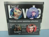David Bowie 2002 Best Of Virgin Records promo 4 button/badge set on card New