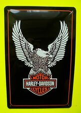 Tin Sign Nostalgie Blechschild Harley Davidson Adler Logo Deko 20 x 30 cm