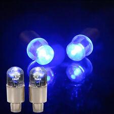 4× Universal LED Wheel Tyre Tire Air Valve Stem Cap Light Lamp Bulb Bright Blue